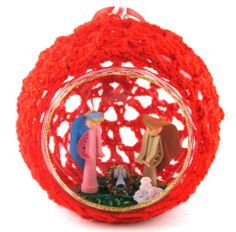 Handmade+Christmas+Tree+Ornament+with+Nativity+by+ColombiArts,+$10.00