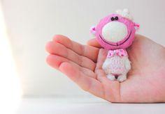 Купить Маленькая Принцесса - миниатюрный авторский мишка - подарок! - комбинированный, розовый, сердечки, мишка тедди