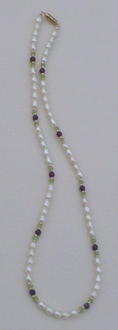 Beaded Necklace Instructions - Free Bead Pattern for Christmas Pearls