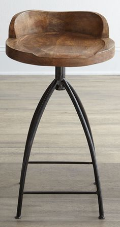 Arteriors Wooden Bar Stool
