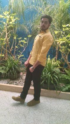 M. Sheheryar Naseer - a smart casual look #Sheheryar #MSheheryarNaseer #SheheryarNaseer #MuhammadSheheryarNaseer #Yellow #smart #formal #cool #style  #Style #Handsome #Man #Beautiful #Fashion