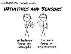 A Little Bit of Personality: What Do All These Letters Mean Anyway? INTUITIVES / Sensors
