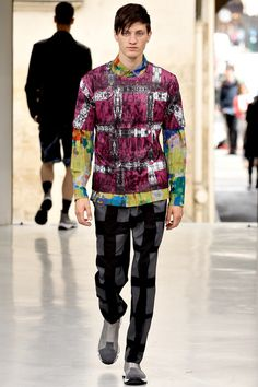 <3Sweet pattern mix.  Issey Miyake | Spring 2014 Menswear Collection | Style.com