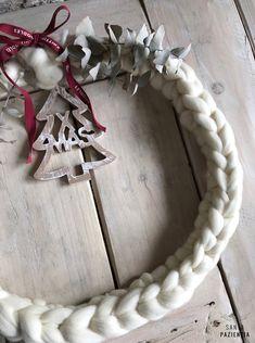 Teje tu Corona de Navidad con lana XL
