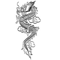 Furious Dragon Tattoo