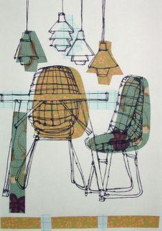 Ruth Allen http://decdesignecasa.blogspot.it #ChairDrawing