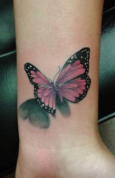Recent 3D butterfly tattoo for Sharna @ The Ink Captain's Tattorium.