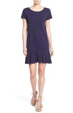 Velvet by Graham & Spencer Ruffle Hem Cotton Tee Dress available at #Nordstrom