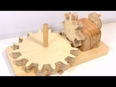 Making beveled right angle gears - YouTube