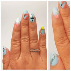 Follow @paint_n_polish's photo on Instagram --- Heading to Miami this weekend... Hence the #nailspo :). Can't wait to party with my ladies for the bachelorette ☀️!! When I think Miami, for some reason I think of flamingos.