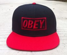 Obey Cap Red and Black e37f53bc5aa3