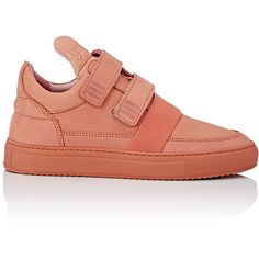 Filling Pieces Double-Strap Low Top Sneakers (26950 RSD) ❤ liked on Polyvore featuring shoes, sneakers, pink, low profile sneakers, nubuck shoes, double strap shoes, filling pieces shoes and low top