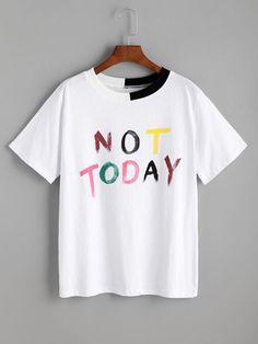 ROMWE -  ROMWE Pink Letter Print T-shirt - AdoreWe.com  1fcf591397c00