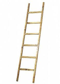 Mushroom Party - Διακοσμητική ξύλινη σκάλα με 6 πατήματα Φυσική 170x38cm Ladder, Stuffed Mushrooms, Stuff Mushrooms, Stairway, Ladders