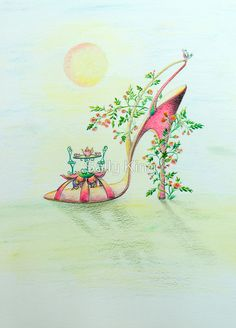 Shoe art with something for everyone designs include the Hot Boogy shoe, Masked Ball, Puss on Boots and many others. Watercolor Illustration, Watercolor Art, Fashion Illustration Shoes, Shoe Illustration, King Design, Christmas Shoes, Flower Shoes, Shoe Art, Illustrations