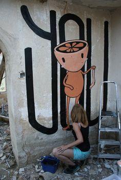 You By Eme de M #street #Art #artist #mural #graffiti