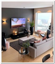 13 Best Modern Living Room Inspirations From a simple living room decor to elaborated lighting and p Living Room Inspiration, Modern Living Room Inspiration, Living Design, Bedroom Design, Living Room Design Modern, Living Room Designs, Apartment Living Room, House Interior, Apartment Decor
