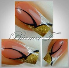 Nail Design von Naildesign by Bianca Fabulous Nails, Gorgeous Nails, Pretty Nails, Beautiful Nail Designs, Beautiful Nail Art, Ongles Bling Bling, Orchid Nails, Les Nails, Gel Nagel Design