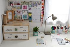 Mi ansiedad siempre gana y desde hace unos días ya tengo mi rincón favorito de mi escritorio taller renovado para recibir con todo el 2016. ...