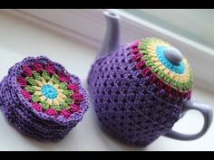 Learn to Crochet with Girlybunches - How to Make a Tea Cosy - YouTube