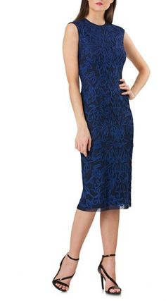 54f4a9ea2216 Missguided Cobalt Blue Lace Halterneck Midi Dress