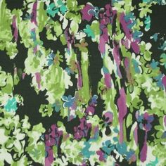 Green & Magenta Floral