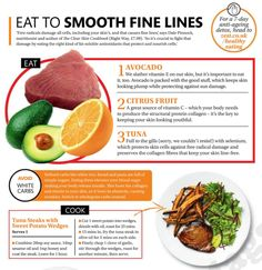Eat to smooth fine lines