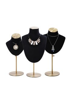 Stand# For Jewelry Display Black Linen Type Jewelry Display Stands, Necklace Display, Necklace Holder, Jewellery Display, Jewelry Store Design, Custom Jewelry, Jewelry Stores, Fashion Shop Interior, Wood Spice Rack