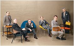 Meet The A-Team of the Mid-Century Modern Movement: Frank Lloyd Wright,  George Nakashima, Finn Juhl, Hans Wegner, Eames, Herman Miller, George Nelson,  Eero Saarinen - Playboy Magazine, July 1961
