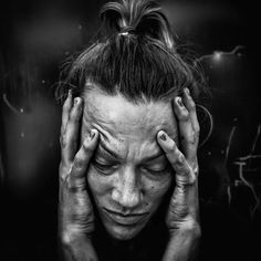 by Lee Jeffries - Photo 118041191 - Emotional Photography, Dark Photography, Portrait Photography, Photography Women, Lee Jeffries, Face Drawing Reference, Expressions Photography, Pose Reference Photo, Black And White Portraits