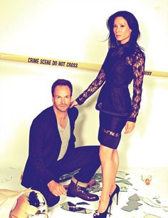 "Jonny Lee Miller and Lucy Liu, ""Elementary"""