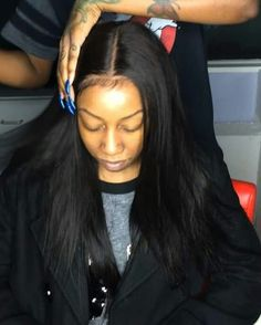 The Beauty Of a Frontal! Achieve this look with Mayvenn's Brazilian Straight Frontals!