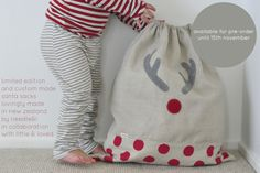 Cute Christmas sack from www.littleandloved.co.nz