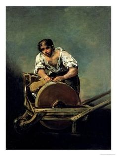 Knife Grinder, by Francisco Goya Francisco Goya, Spanish Painters, Spanish Artists, Knife Grinder, Kunsthistorisches Museum, Gustave Courbet, Art Database, Old Master, Museum Of Fine Arts