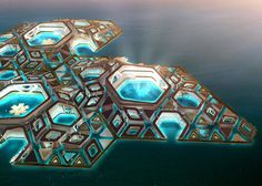 The craziest futuristic floating city yet, proposed by AT Design Office.