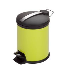 Honey-Can-Do 5 Liter Step Trash Can, Green