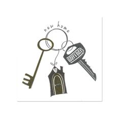 Congratulations on your new home greeting card with skeleton keys new home cards housewarming greeting cards collection anas m4hsunfo