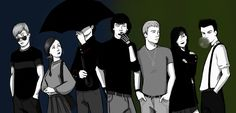 Drawing by Szikee (click for gallery) of Sherlock characters in their teens. Fun idea!