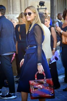 Olivia Palermo at Paris Fashion Week.