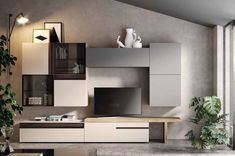 Living Room Wall Units, Tv Stand Designs, Bookcase Styling, Tv Wall Design, Tv Unit, Corner Desk, Sweet Home, New Homes, Interior Design