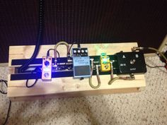 DIY pedalboard. This is my homemade guitar pedalboard.