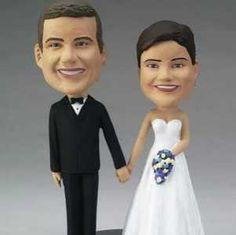 Custom Made Wedding Couple Bobblehead Cake Topper - Cake Toppers Engraved Wedding Gifts, Gifts For Wedding Party, Our Wedding, Dream Wedding, Wedding Ideas, Party Gifts, Personalized Wedding, Personalized Gifts, Wedding Couples