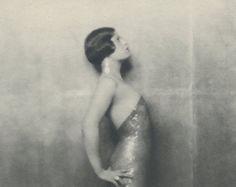 Miss Pounds, Flapper, Art Deco, Vintage Monochrome Portrait in Photogravure by Hugh Cecil, 1926, Book of Beauty