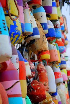 Colorful buoys #summertime