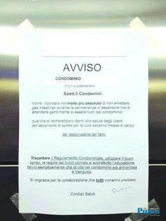 """Succede ad Alessandria: foglio """"ufficiale"""" per vietare i peti in ascensore"""