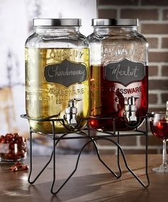 Loving this Blackboard Glass Beverage Dispenser Set on #zulily! #zulilyfinds