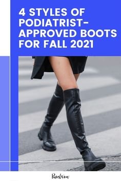 Before we stock up on a few pairs for fall, though, we checked in with podiatrist Dr. Miguel Cunha to find out which boots are healthiest for our feet. Here are four styles he recommends. #boots #shoes