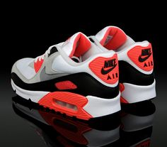 The Evolution of Nike Air Max 90 Infrared // Clip) Air Max 90, Nike Air Max, Nike Free Shoes, Nike Shoes Outlet, Air Max Sneakers, Nike Sneakers, Nike Boots, Nike Flyknit, Nike Running