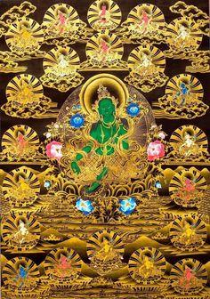 Green Tara and her 21 aspects