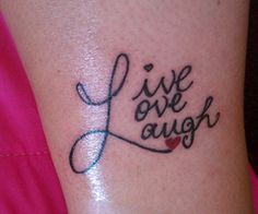 pics for live laugh love wrist tattoos. Black Bedroom Furniture Sets. Home Design Ideas